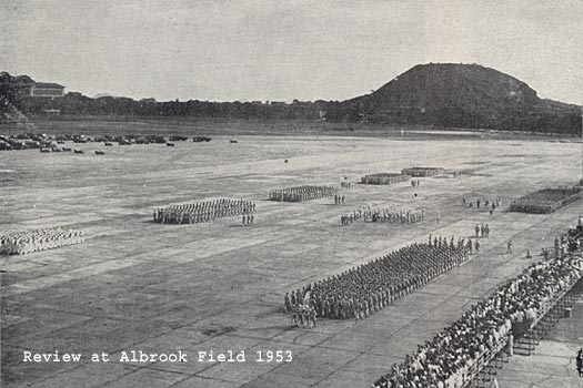 33rd Infantry contingent passing in Review at Albrook Field